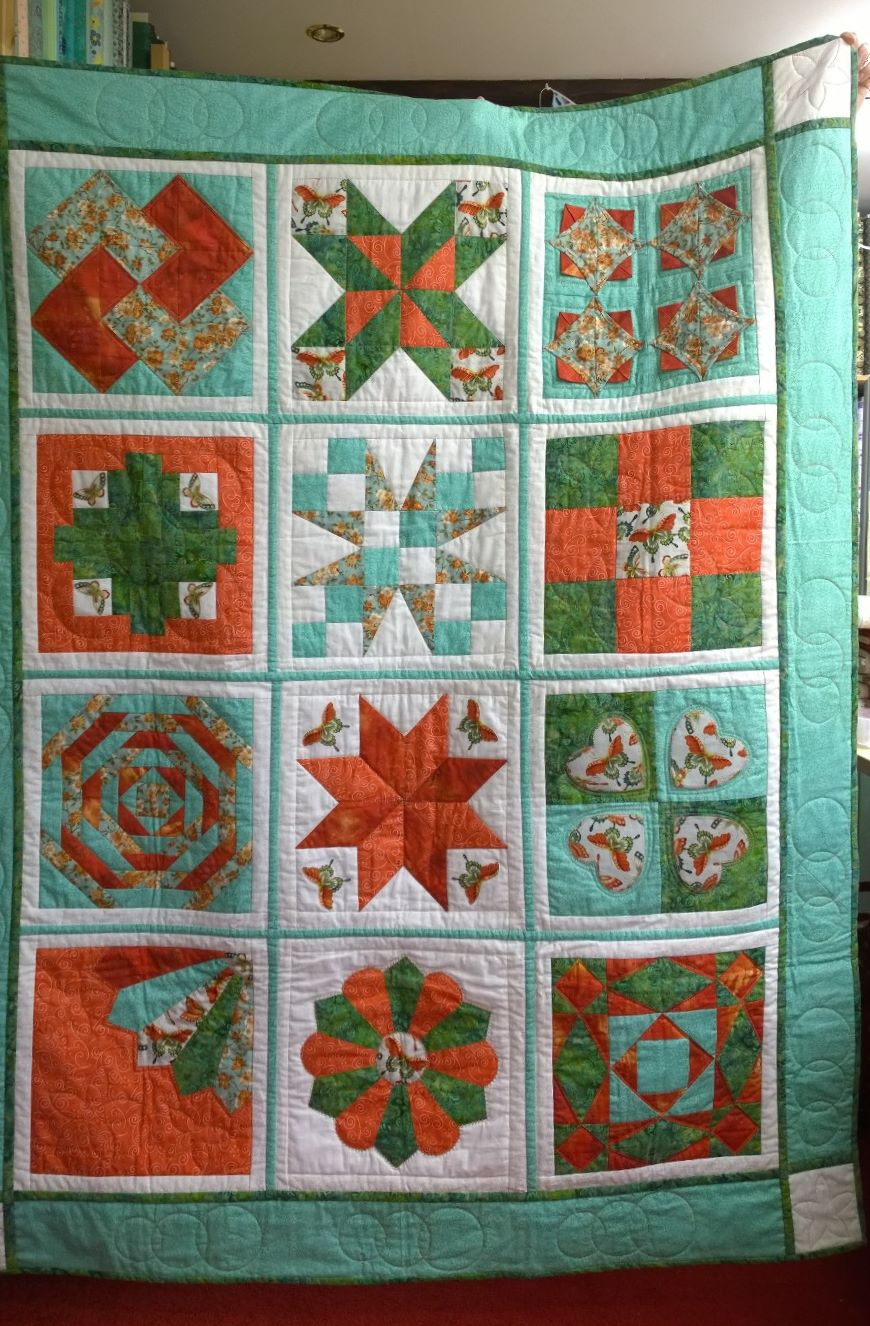 Arts and crafts sampler quilt