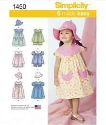 Simplicity 1450A Toddlers' Dress