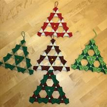 Folded Christmas Triangles made by Fay.