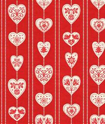 Scandi Christmas, Hearts Red