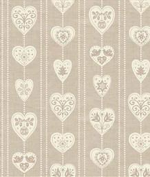Scandi Christmas, Hearts Taupe