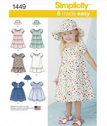 Simplicity 1449 Toddlers' Dress