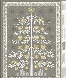 Scandi Advent Tree Panel, Grey