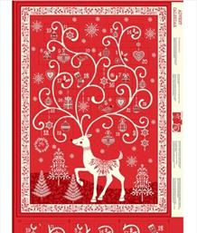 Reindeer Advent Panel, Red
