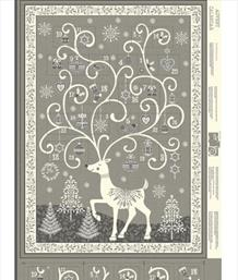 Reindeer Advent Panel, Grey