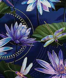 Waterlily Pool, Cobalt Blue