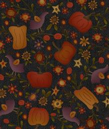 Autumn Song - Pumpkin Novelty, Black
