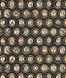 Typewriter Keys, Black