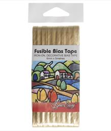 Fusible Bias Tape, Gold