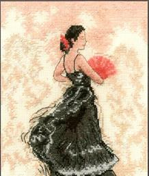 Flamenco Dancer in Black - BK144
