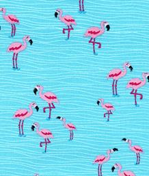 Mini Flamingos, Aqua