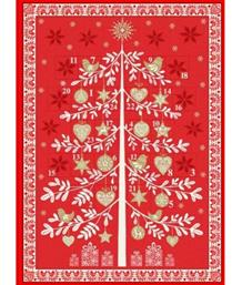 Scandi Advent Tree Panel, Red