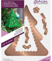 Gemini Cut 'n' Stitch Multi Media Die Set - Christmas Tree