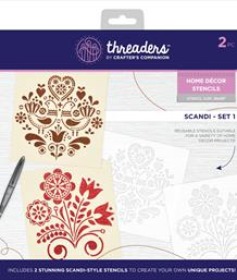 Threaders Home Décor Stencils - Scandi - Set 1