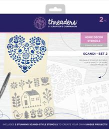Threaders Home Décor Stencils - Scandi - Set 2
