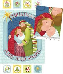 CHRISTMAS PURE & SIMPLE PANEL - 4380