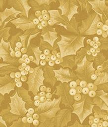 Holly & Berries, Gold