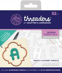 Threaders Monogram Maker - Groovy Alphabet Template