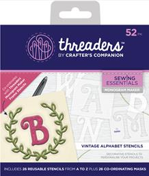 Threaders Monogram Maker - Vintage Alphabet Template